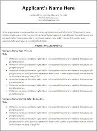 free resume templates printable 1000 ideas about chronological resume template on free