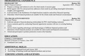 Financial Advisor Resume Examples by Senior Tax Advisor Resumes And Cover Professional Resume Cover