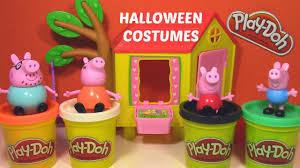 Halloween Costumes Peppa Pig Play Doh Peppa Pig Halloween Costumes Pumpkin Ghost Witch Dinosaur