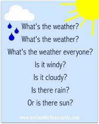 printable lyrics preschool weather song free printable lyrics no time for flash cards