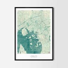 World Map Posters by Oslo Art Posters City Art Map Posters And Prints
