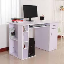 Schreibtisch F Computer Und Drucker Homcom Computertisch Schreibtisch Bürotisch Mit Schrank Pc Tisch