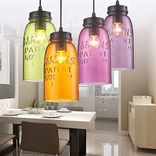 Colored Glass Pendant Lights Modern Stainde Glass Pendant Light Fixtures Color Wine Shade L