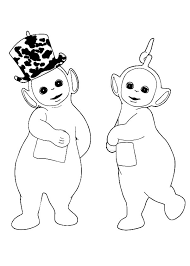laa laa love dipsy hat teletubbies coloring laa
