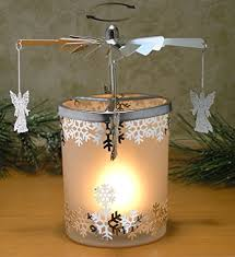 spinning candle frosted glass spinning candle holder