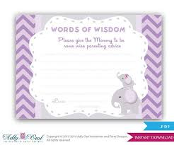 Words Of Wisdom Cards 28 Best Kaitlin U0027s Baby Shower Images On Pinterest Elephant Baby