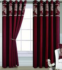 Gold Curtains 90 X 90 Luxury Red And Gold Poly Cotton Blend Fashion Jacquard Claret Red