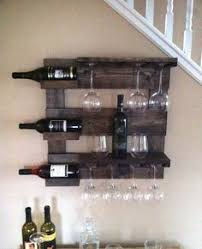 how to build a wine rack for bottles and glasses wine glass