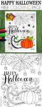happy halloween coloring page the pinning mama