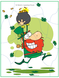 st patricks day puzzles for kids crossword word search