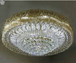 led light modern crystal lamp living room luxury home decoration