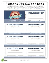 father u0027s day coupon book printablemom it forward