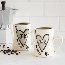 personalized porcelain faux bois mug set ceramic coffee cups