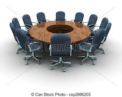 Conference Table With Chairs Drawings Of Conference Table A Round Conference Table With