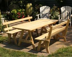 Picnic Table Plans Free Separate Benches by Picnic Table I Like It Square U2026 Pinteres U2026