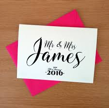personalised wedding congratulations card by ivorymint stationery