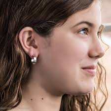 tiny hoop earrings small sterling silver hoop earrings 16mm for men or women