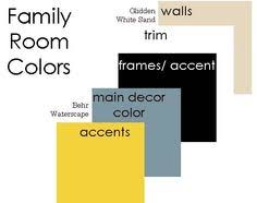 quiver tan family room trying a sample on the playroom walls