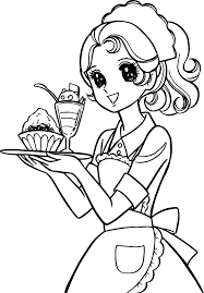 aeromachia service waiter coloring page wecoloringpage