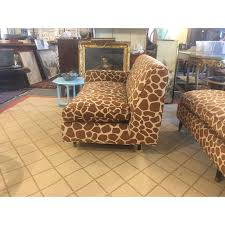 giraffe print sectional sofa chairish
