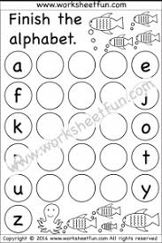 kindergarten alphabet worksheets free printable worksheets