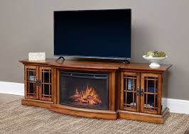 Electric Fireplace Entertainment Center Graham Infrared Electric Fireplace Entertainment Center In Toasted