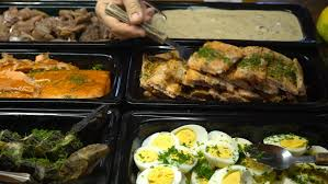 Select Comfort Stock Restaurant Guests Selected Food From A Buffet Stock Footage Video