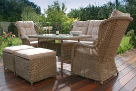 Wicker High Back Dining Chair Maze Rattan Winchester High Back Sofa Dining Set Mode Living