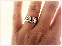 engraved stackable rings personalized stackable rings mothers best ring 2017