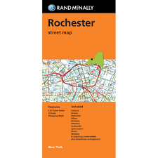 New York Street Map by Folded Map Rochester New York Street Map Rand Mcnally Store