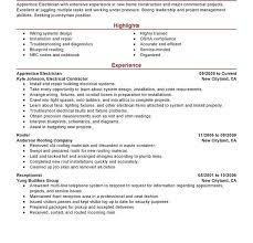Roofing Resume Examples by Marvellous Electrician Resume Sample 13 Best Apprentice Example