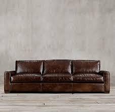 Leather Cushions For Sofas Leather Three Seat Cushion Sofa