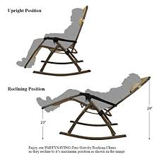 Folding Rocking Chair Amazon Com Partysaving Infinity Zero Gravity Rocking Chair