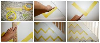painting a funky entryway wall design using frogtapediy show off