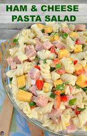pasta salad with mayo ham and cheese pasta salad with a blast