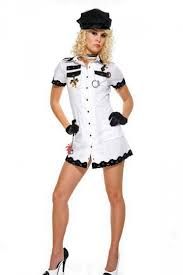 Halloween Army Costumes Womens White Army Short Sleeve Halloween Women Costume