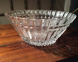 Vintage Bohemian Lead Crystal Candle Holder For Three Candles Crystal Bowl Etsy