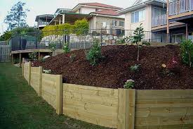 Images Of Retaining Wall Ideas Matter Plus Retaining Wall - Timber retaining wall design