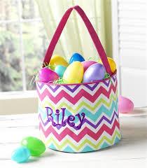custom easter baskets monogrammed chevron easter basket for kids