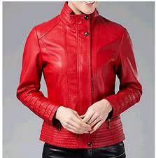arrow women red leather jacket 8yhtg1