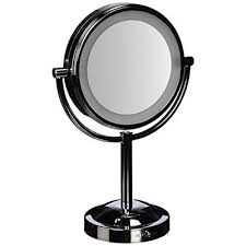 conair lighted vanity mirror conair double sided battery operated lighted makeup mirror reviews