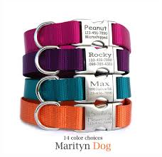 personalized collar or collar leash set in 14