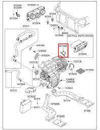 hyundai 2005 2009 tucson hvac heater blend door actuator motor
