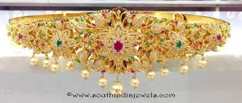 gold plated ottiyanam designs gold plated vadanam designs one