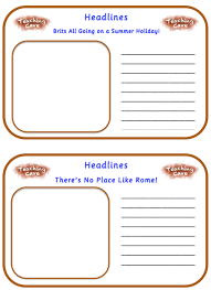 writing newspaper reports ks1 and ks2 narrative lesson ideas and