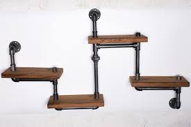Wall Mounted Wooden Shelves by Aliexpress Com Buy 1pc Industrial Pipe Bathroom Shelf Metal Wall