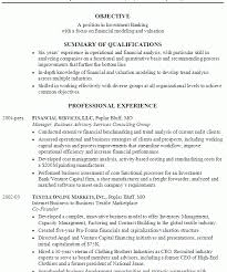 Ibanking Resume Investment Banking Resume Template Investment Banking Resume