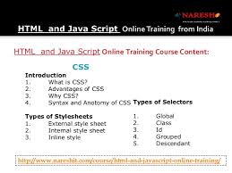 html online class html and javascript online in india by experts
