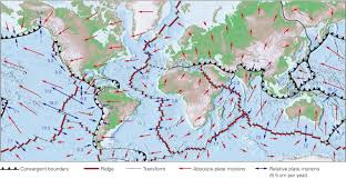 World Plate Boundaries Map by What Drives Plate Motion And How Fast Do Plates Move Learning