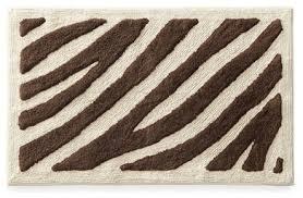Brown Bathroom Rugs Zebra Bath Rug Roselawnlutheran